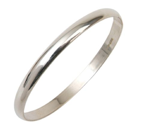 6MM Slave Bangle in Sterling Silver -  Teenage to Adult Sizes